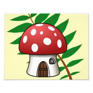 Mushroom House Photo Print