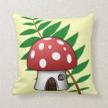 Mushroom House Pillow