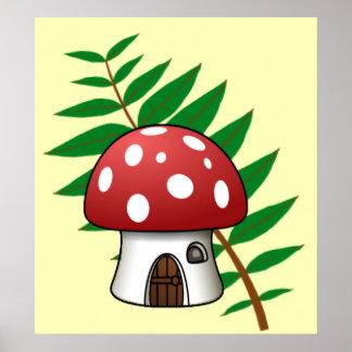 Mushroom House Poster