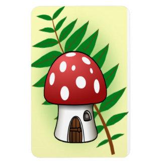 Mushroom House Rectangular Photo Magnet