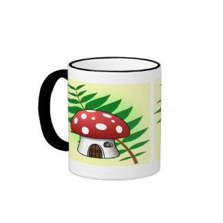 Mushroom House Ringer Coffee Mug