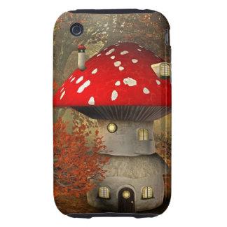 mushroom house tough iPhone 3 case