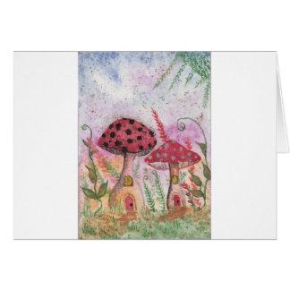 Mushroom Houses Card