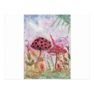 Mushroom Houses Postcard