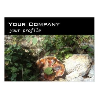 mushroom ,ivy ,stones large business card