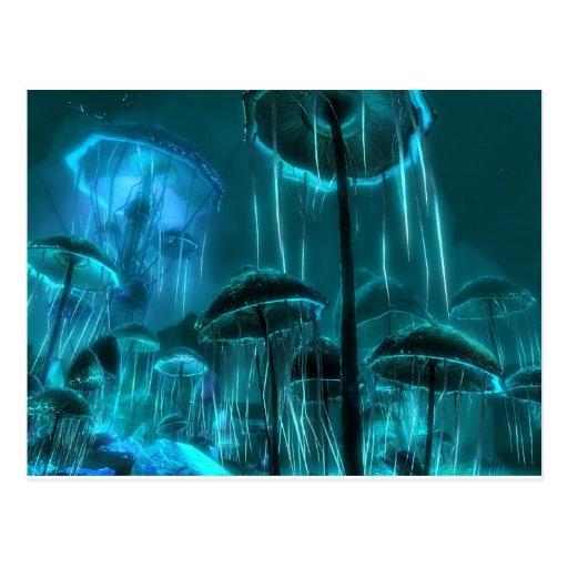 Mushroom Jellyfish Post Cards