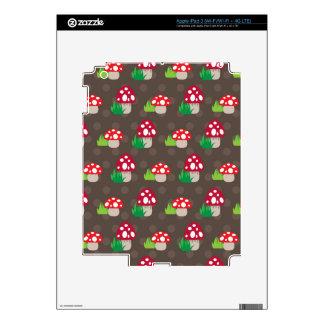 mushroom kids pattern decal for iPad 3