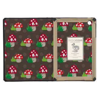 mushroom kids pattern iPad mini retina case