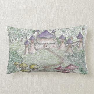 Mushroom kingdom throw pillow