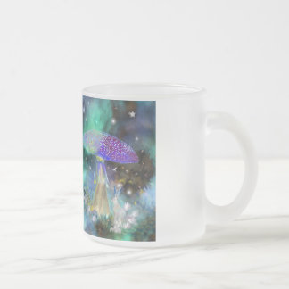 Mushroom Lady and the Jack Rabbit! 10 Oz Frosted Glass Coffee Mug