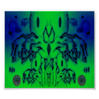 Mushroom Land Double Eyes Print