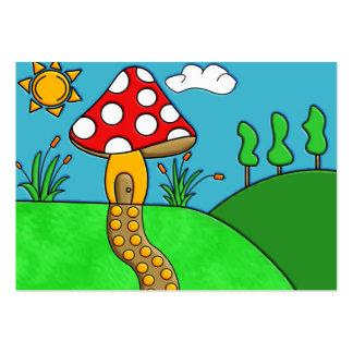 mushroom large business card