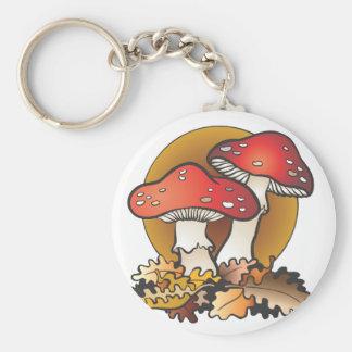 Mushroom Madness Basic Round Button Keychain