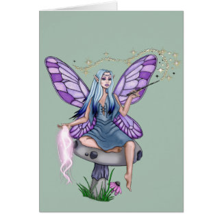 Mushroom Magic Fairy Card