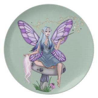 Mushroom Magic Fairy Plate