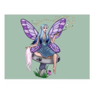 Mushroom Magic Fairy Postcard