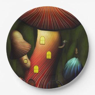 Mushroom - Magic Mushroom Paper Plate