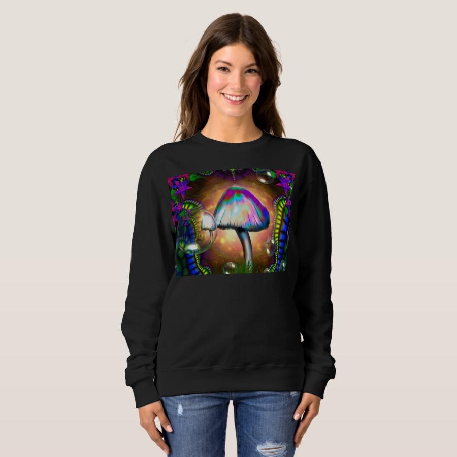 mushroom magic sweatshirt - Durable Women's Outdoor Clothing