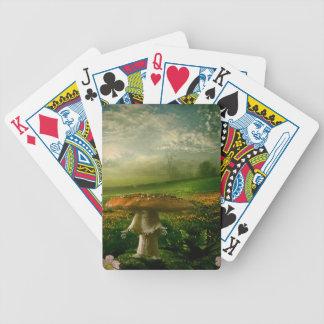 Mushroom Man Bicycle Playing Cards