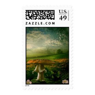 Mushroom Man Postage Stamps