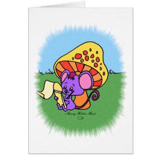 Mushroom Mouse Card