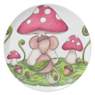 Mushroom Mouse Party Plate