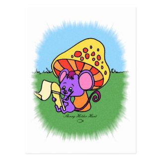 Mushroom Mouse Postcard