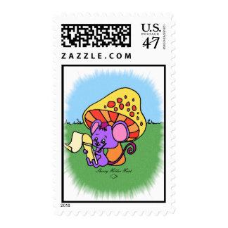 Mushroom Mouse Stamp