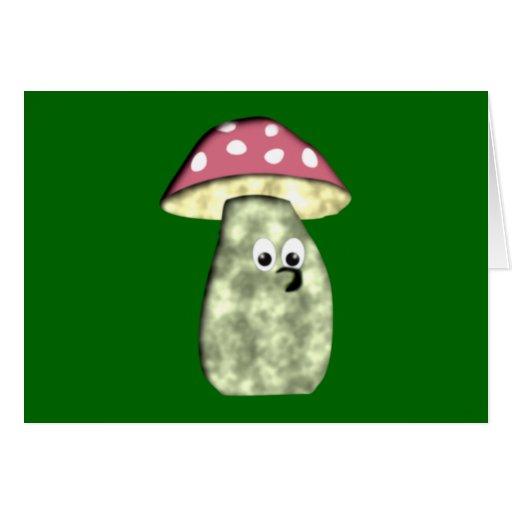 Mushroom mushroom fungus greeting card