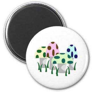 Mushroom Patch 2 Inch Round Magnet