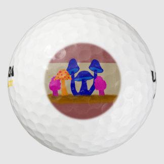 Mushroom Patch Pack Of Golf Balls