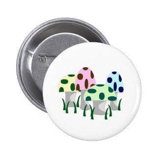 Mushroom Patch Pinback Button