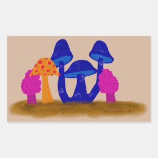 Mushroom Patch Rectangular Sticker