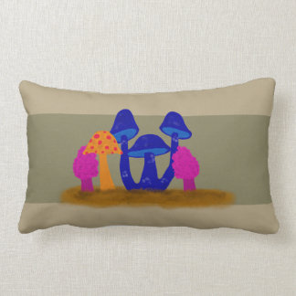 Mushroom Patch Throw Pillow