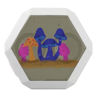 Mushroom Patch White Bluetooth Speaker