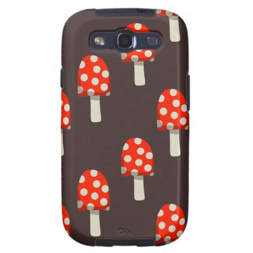 Mushroom Pattern Samsung Galaxy S3 Case
