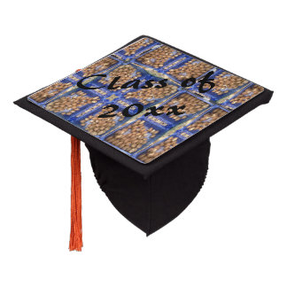 mushroom pattern graduation cap topper