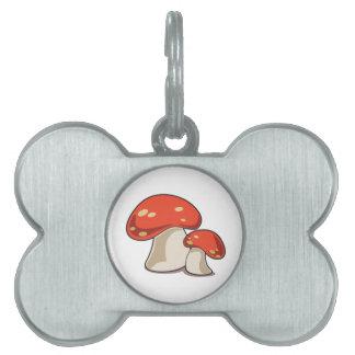 Mushroom Pet Name Tag
