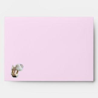 Mushroom Playground Baby Shower Invitation Envelope