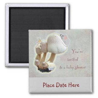Mushroom Playground Baby Shower Invitation Magnet