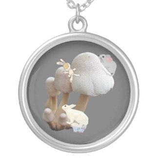 Mushroom Playground Silver Plated Necklace