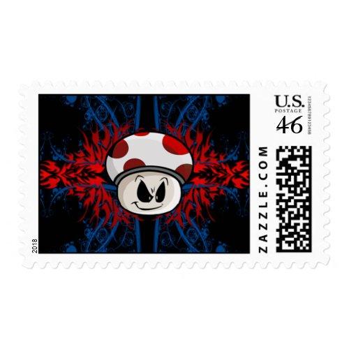 Mushroom Postage stamp