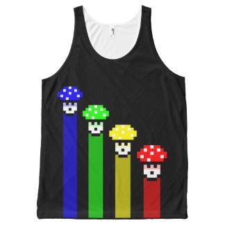 Mushroom Rainbow All-Over-Print Tank Top