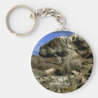 Mushroom Rock Keychain