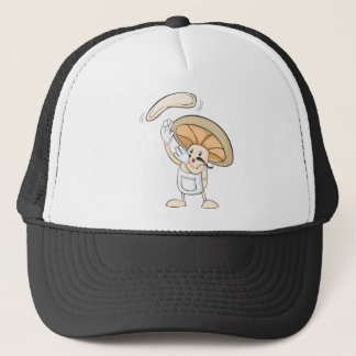 Mushroom Shirts - Mushroom Chef Baker Dough Trucker Hat