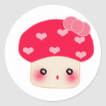 Mushroom shock! round stickers