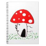mushroom spiral notebooks