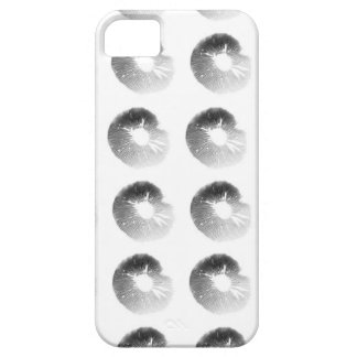Mushroom Spore Print Design Black and White iPhone SE/5/5s Case