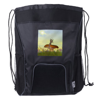Mushroom Sprite Drawstring Backpack