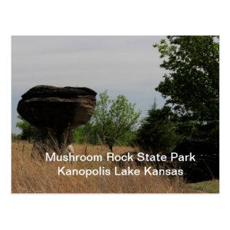 Mushroom State Park Kanopolis Lake POST CARD